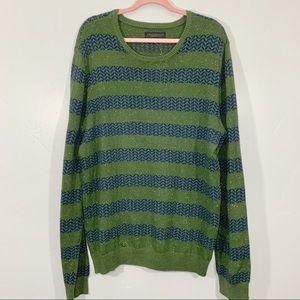 Aeropostale | Men's XL Green Blue Striped Sweater